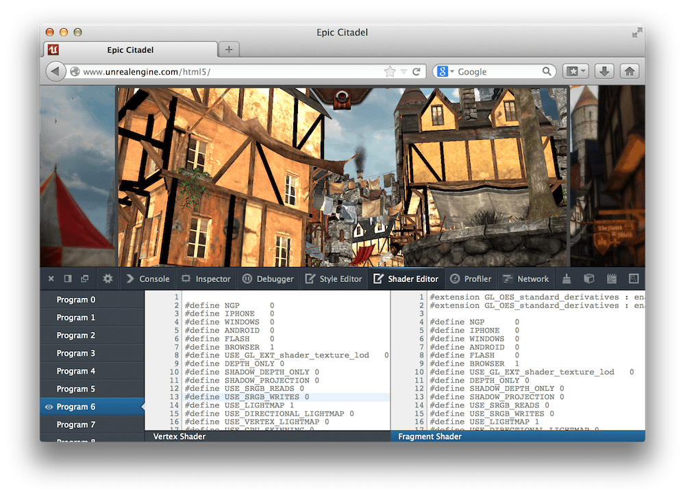 Live editing WebGL shaders with Firefox Developer Tools