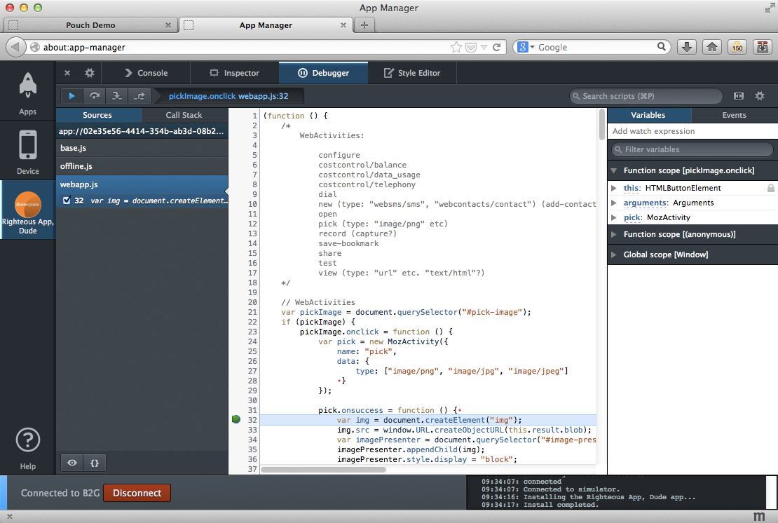 Split console, pretty-print minified JS and more - Firefox