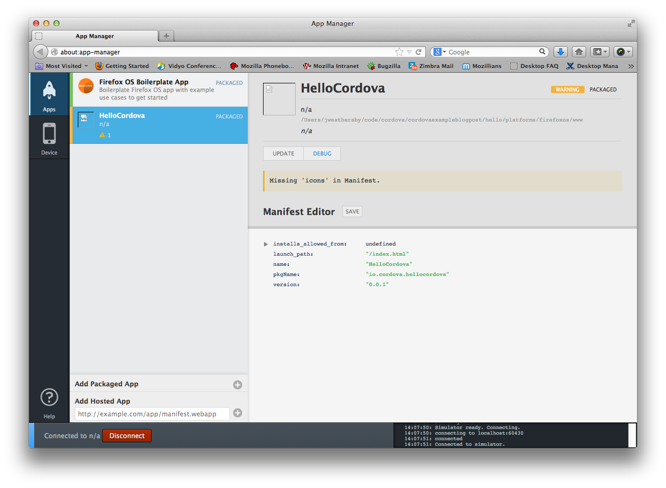 Building Cordova apps for Firefox OS - Mozilla Hacks - the