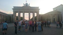 Brandenburg Gate and the team