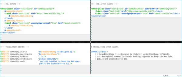 Semantic markup in L20n