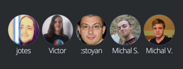 Last month's Pontoon contributors