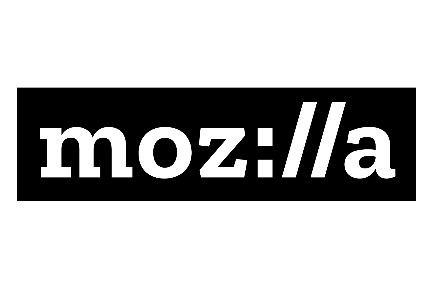 New branding for Mozilla where the letters i, l and l mimic the :// found in every URL