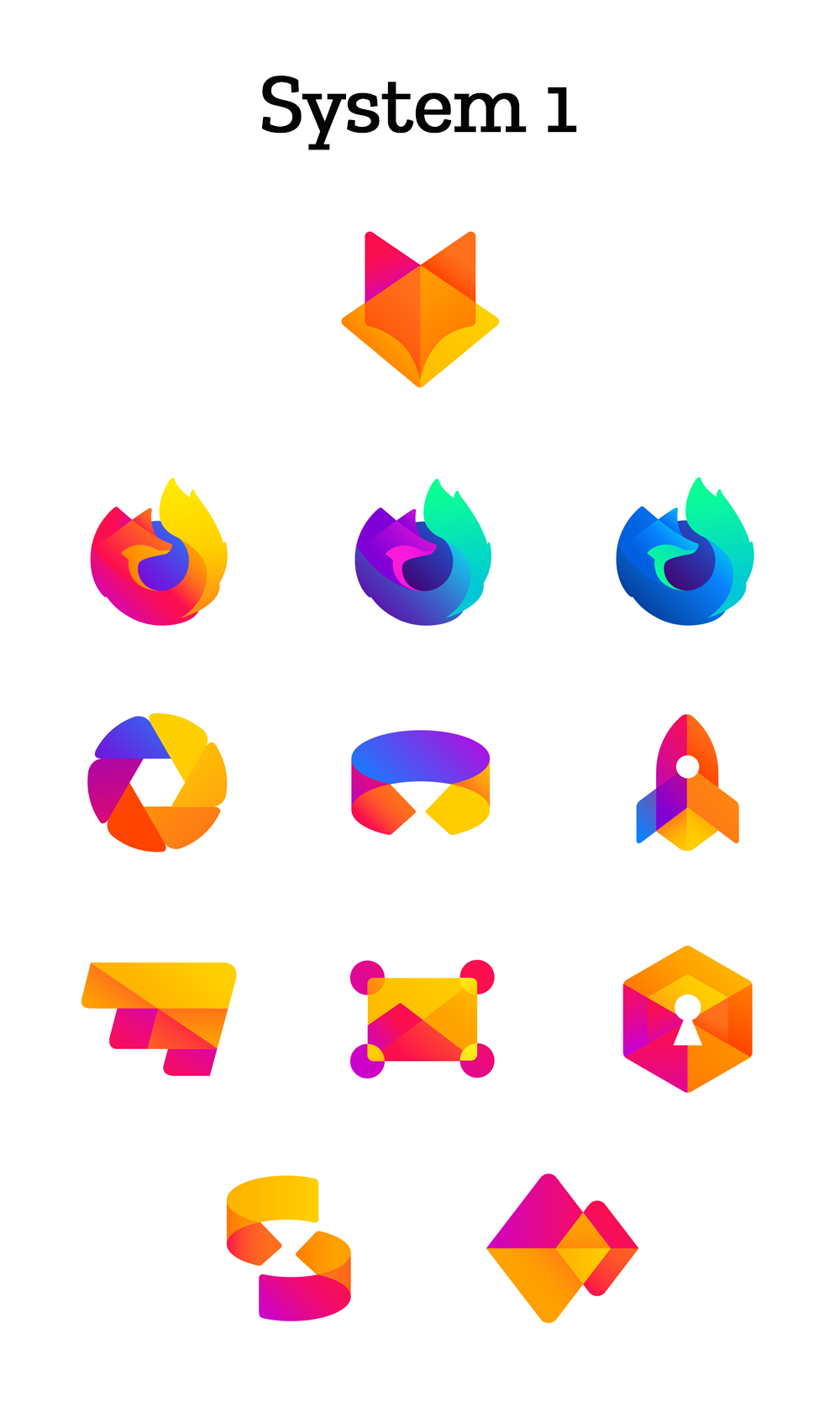 Logo firefox 2018