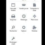 Zoom sur le menu Firefox
