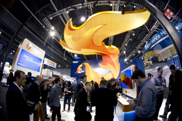 Mozilla booth MWC