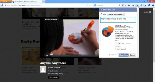 Firefox 23 Share