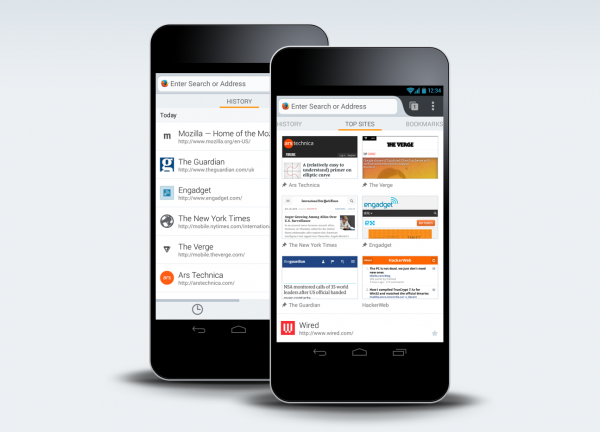 Firefox for Android redesigned Home screen to help you navigate the Web more quickly
