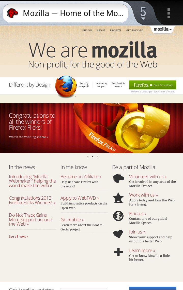 Mozilla Website