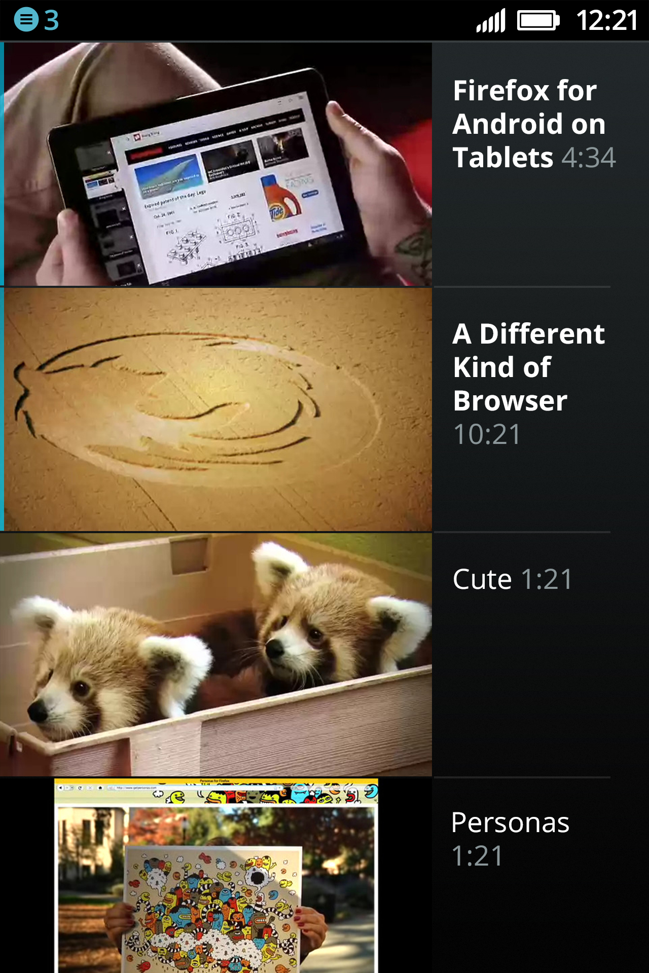 Firefox OS Video Player
