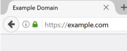Address bar showing green lock at https://example.com