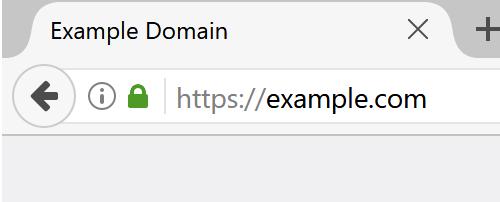 HTTPS 時の従来表示