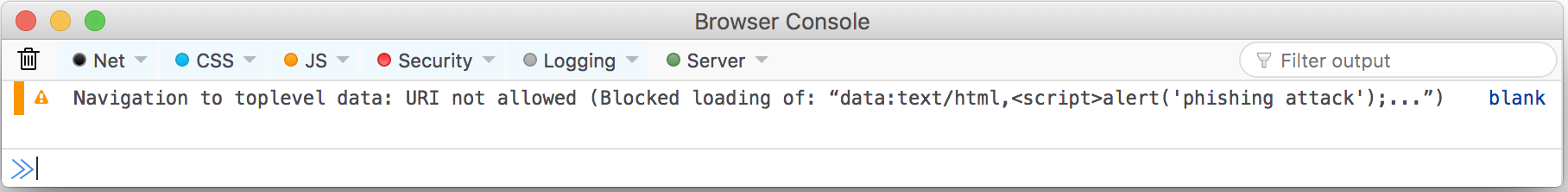 Blocking Top-Level Navigations to data URLs for Firefox 59