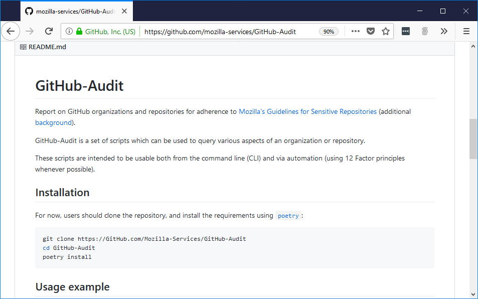Protecting Mozilla's GitHub Repositories from Malicious