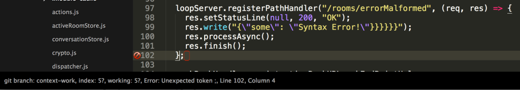 eslint syntax error in sublime