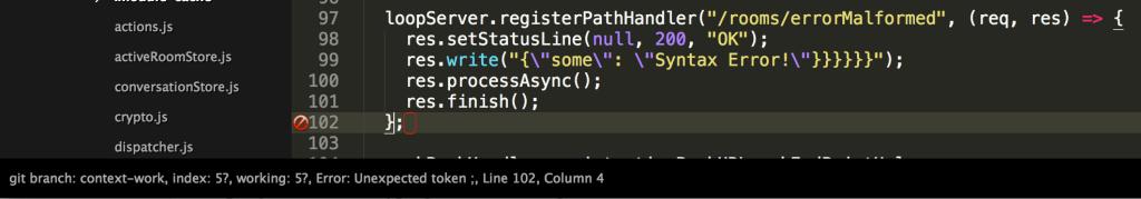 eslint syntax error in sublime
