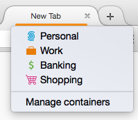 Long press on plus button to see list of containers you can choose from