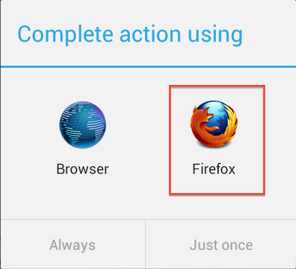 Android Default Browser