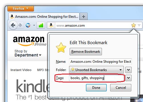 Bookmark tag