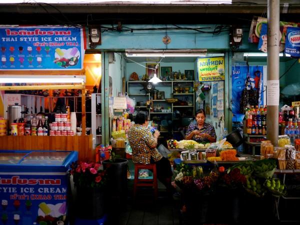 Bangkok street food stall.