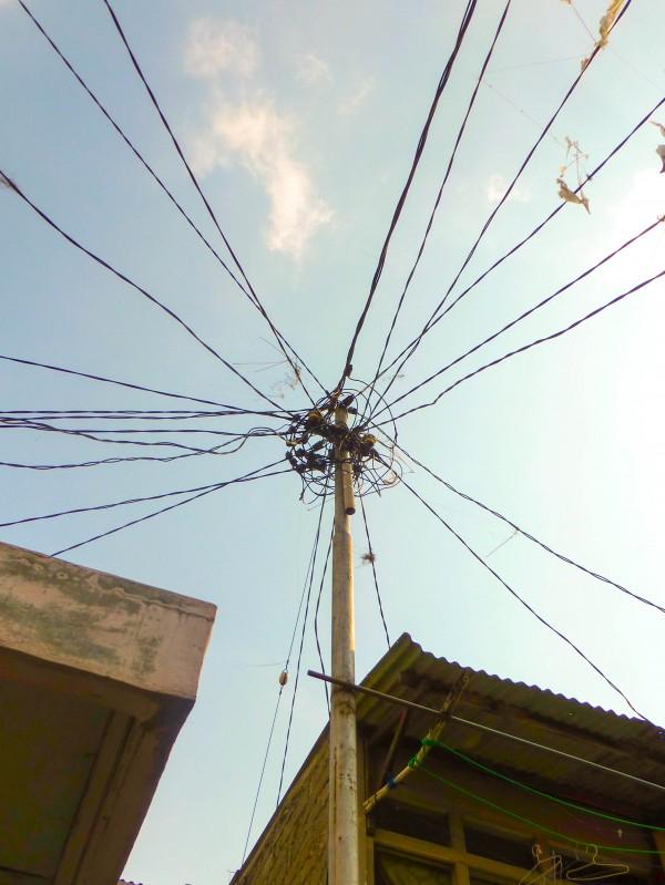 Powerlines in a Bandung neighborhood