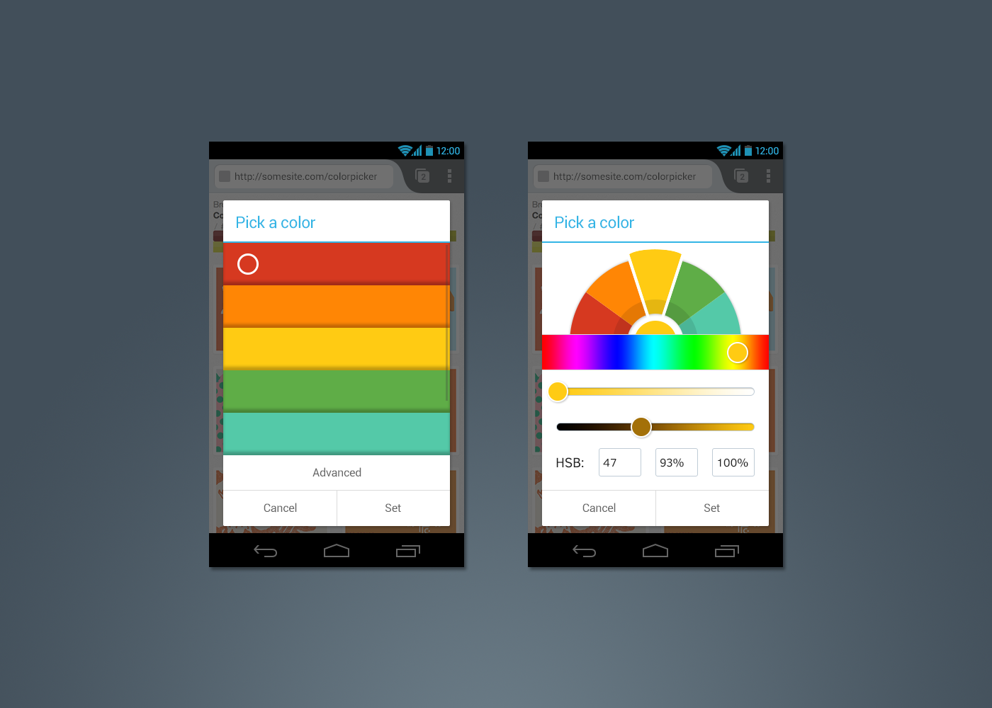 android studio how to make a custom color picker