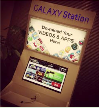 Galaxy Station at a Samsung store.