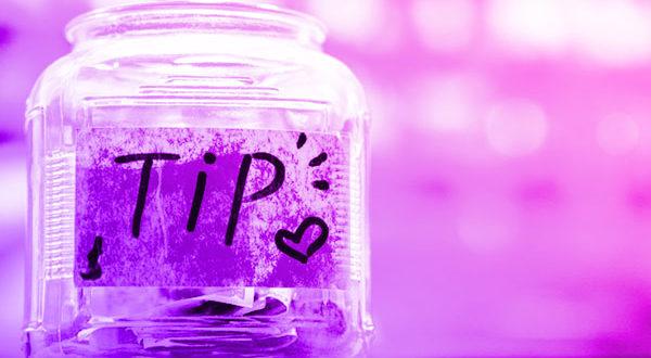 Photo of a tip jar