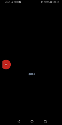 Black screen with only screen recorder UI visible.