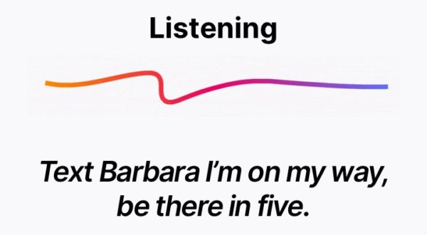 Listening, Text Barbara I'm on my way, be there in five.