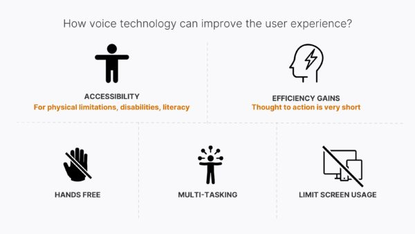 How voice technology can improve the user experience?
