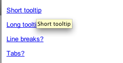 Tooltips example