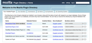 Early snapshot of the Plugin Directory