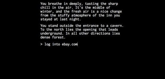 Text adventures in JavaScript
