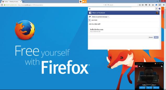 Firefox Hello link sharing