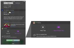 iOS Today Widget in Firefox for iOS